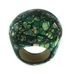 Abalone Shell Inlay Wood Dome Ring Size 6 #Affinityfashionjewelry #Fashion