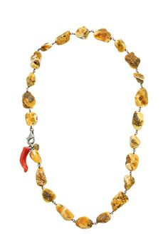 Necklace made of sterling silver 925 with amber and coral stones Coral Stone, Handmade Silver, Amber, Beaded Necklace, Sterling Silver, Gold, Stones, Jewelry, Beaded Collar