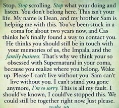Got chills reading this omg every fan girl ever wants to hear these words.
