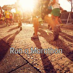 Bucket list: train for and run a marathon.
