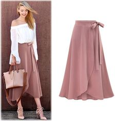 Summer Skirt Faldas De Mujer Pure Color Bind Belt Skirt Female Irregular Split Long Skirt Vestidos De Verano High Waist Skirt