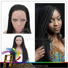 Synthetic Micro Braided Lace Front Wigs For Black Women Long Black Synthetic Micro Braid Wigs Glueless Lace Front Braided Wigs Full Wigs Lace Wig Paris From Rainbowlucky, $0.61| Dhgate.Com