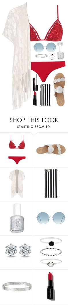 """Untitled #119"" by emma-lindsey ❤ liked on Polyvore featuring Zimmermann, Jack Rogers, City Chic, MICHAEL Michael Kors, Essie, Accessorize, Cartier, Smashbox and plus size clothing"