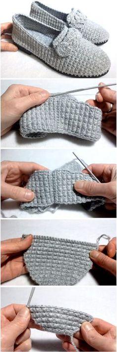 Crochet Women's Shoes On Soles