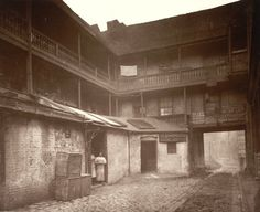 Rookery (slum) in Victorian England. These areas were overcrowded, low quality housing with poor or no sanitation.