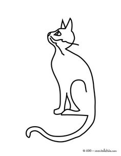 funny black cat coloring page