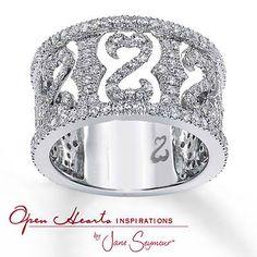 Jane seymour open heart rings