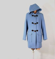 Vtg 80s AK Anne Klein HOODED toggle coat / by Ambercityvintage, $169.00