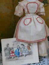 ~~~ Rare All Original Apron from  La Poupee Modele  ~~~
