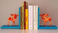 DIY Moose Bookends