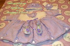Lilac & White Baby Girl Set