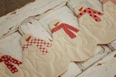 Snowman Table Runner Download Pattern por sweetwaterscrapbook