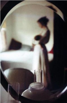 Saul Leiter - Mother And Baby In Mirror, 1950s  via helena roze