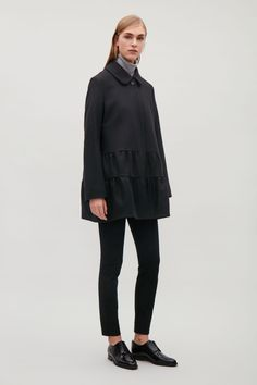 COS | A-line coat with gathered detail