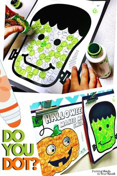 Do you dot? Halloween is coming, and these fun dot art pages are magic for articulation groups! You'll love them the most for preschoolers and young children, but big kids love to dot, too! Don't have daubers? Have kids fill in the circles with magnetic tokens, smash dough on them or just color them in! Students leave therapy with a speech inspired masterpiece, and you will have gotten TONS of artic trials! Then send them home as speech homework, or hang them up for everyone to see! Articulation Therapy, Articulation Activities, Art Therapy Activities, Speech Activities, Language Activities, Halloween Speech Therapy Activities, Play Therapy, Speech Language Therapy, Speech And Language