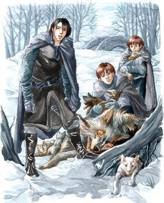 Bran saw his father's face change, saw the other men exchange glances. He loved Jon with all his heart at that moment. Even at seven, Bran understood what his brother had done. The count had come right only because Jon had omitted himself. He had included the girls, included even Rickon, the baby, but not the bastard who bore the surname Snow, the name that custom decreed be given to all those in the north unlucky enough to be born with no name of their own.