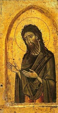 Byzantine Art, John The Baptist, Orthodox Icons, Ciel, Saints, Religion, Statue, Drawings, Spirituality