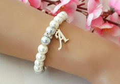 Bridesmaid bracelet flower girl bracelet personalized