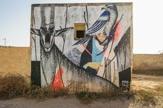 Djerbahood, mural project in Tunisia - Graffiti South Africa, Twoone (Japan).