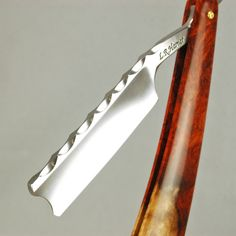 BARBER~L. (Butch) Harner hand made custom straight razor.