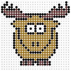 Elk Perler Bead Pattern
