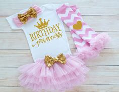 First Birthday Outfit Girl Birthday Princess Shirt One