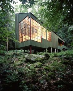 Who needs a cabin when you can have this funky forest house!
