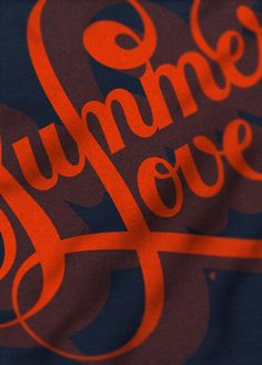 611898e0395ca1 Summer love Typography By  Boris Pelcer
