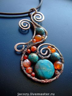 wire jewelry from jacozy on russian etsy