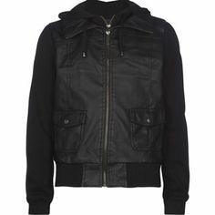 FULL TILT Double Zip Fleece Girls Faux Leather Jacket