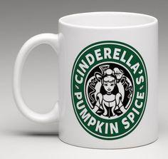 Starbucks Disney Inspired Cinderella Princess Pumpkin Spice Coffee Mug Tea Cup