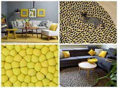 Pasken, og dens farger UllKuleTeppe Felt Ball Rug, Animal Print Rug, Contemporary, Rugs, Color, Design, Home Decor, Asylum, Farmhouse Rugs