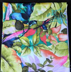 "Michael Miller Fabric Remnant Paradise Island 24.5"" x 44"" #MichaelMiller"