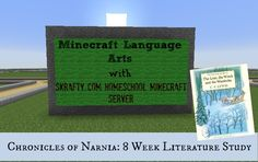 Narnia Literature study with Minecraft Projects! http://whenyouriseup.com/minecraft-homeschool-server/minecraft-curriculum/minecraft-homeschool-language-arts-chronicles-of-narnia-literature-study/