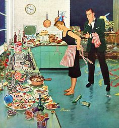 The Aftermath, art by Ben Kimberly Prins.  Detail from Saturday Evening Post January 2, 1960.