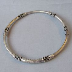 Vintage Balinese Sterling Silver Bangle Bracelet with Scrolls & Wraps Ornate Bali Sterling Silver Bangle Bracelet with Scrolls & Wraps Silver Bangle Bracelets, Silver Necklaces, Sterling Silver Jewelry, Gold Jewelry, Silver Ring, Silver Earrings, 925 Silver, Jewelry Logo, Hammered Silver