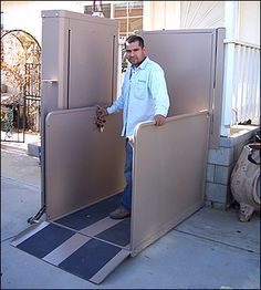 Vertical Platform Lift or porch lift works when a stair lift won't.