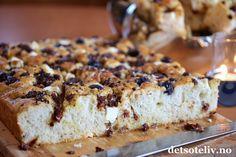 Foccacia med fetaost og oliven | Det søte liv