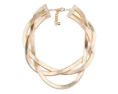Metal Örgü Kolye | Modapik feminen metal altın kaplama necklace 79 TL