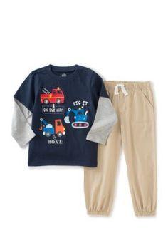 Kids Headquarters  2-Piece Shirt and Jogger Pants Set