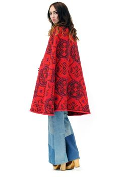 Carpet Bag Embroidered Tapestry Cape: $98