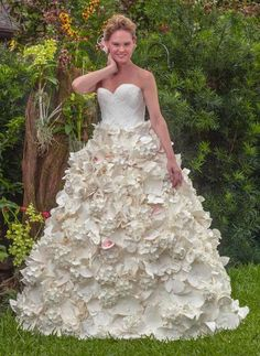 Toilet Paper Wedding Dress:   Carol Touchstone  ~The floral full ballgown is the perfect pick for a bride going for an ultra-romantic look.~