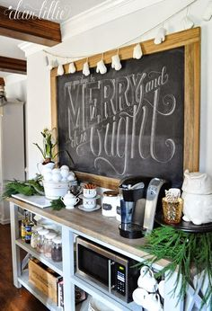 our home :: kitchen tour | chalkboard walls, chalkboards and kids