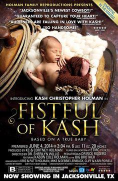 Custom Movie Poster Baby Boy Announcement.   #baby #newborn #birth_announcements #announcements #boy