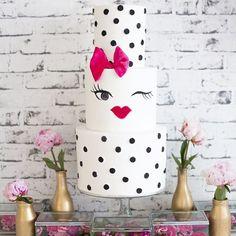 Kate Spade-inspired cake #winkwink
