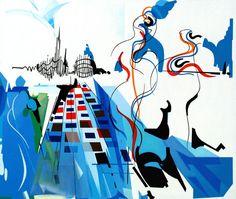 Électra et Oreste, 1956, Acrílico sobre tela, 97 x 114 cm