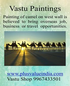 Camel Painting Vastu & Feng Shui Canvas Paintings Print for Home,Office.