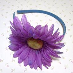 Lavender and Cornflower Blue Flower Child Headband | Micah5five - Children's on ArtFire