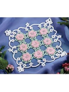The delicate Cro-Tatted Doily is an intermediate free crochet doily pattern available to download. Freepatterns.com