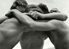 Herbert List (1903-1975) Wrestling boys, Baltic Sea, Germany 1933